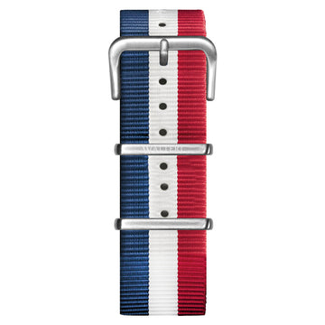 NATO STRAP BLUE & WHITE & RED WATCH - WALTERI