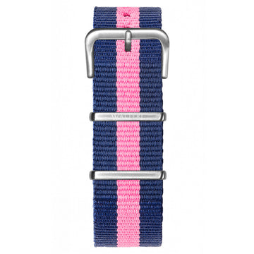 NATO STRAP NAVY BLUE & PINK WATCH - WALTERI