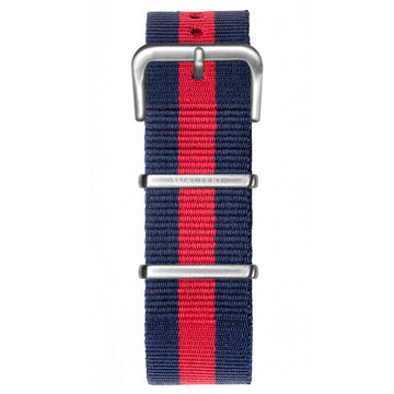 NATO STRAP NAVY BLUE & RED WATCH - WALTERI