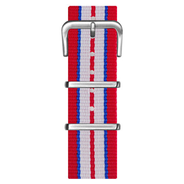 NATO STRAP RED & BLUE & WHITE WATCH - WALTERI