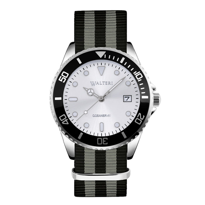 OCEANER 41 - NATO / BLACK & GREY WATCH - WALTERI