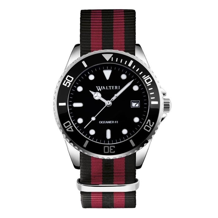 OCEANER 41 - NATO / BLACK & RED WATCH - WALTERI