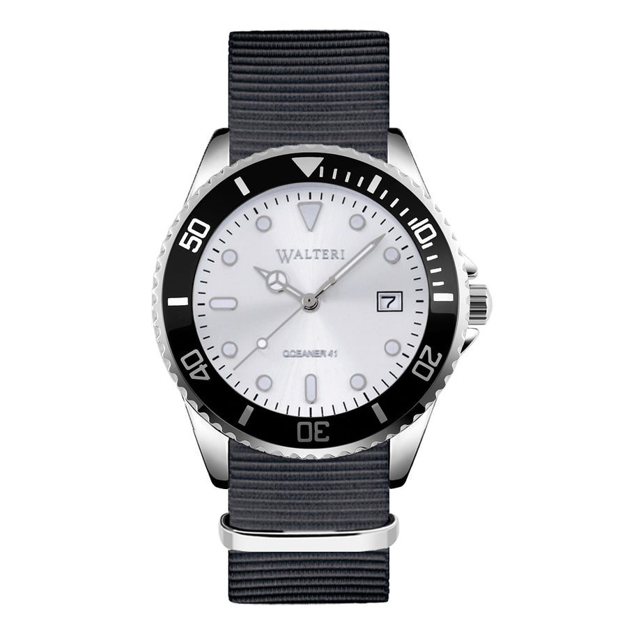 NATO STRAP GREY WATCH - WALTERI