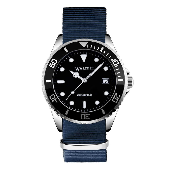 OCEANER 41 -  NATO / NAVY BLUE WATCH - WALTERI
