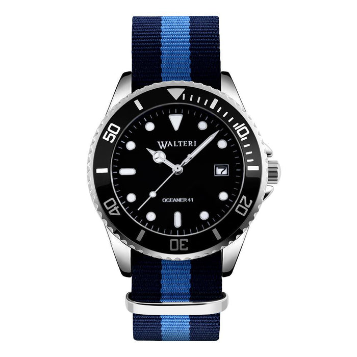 OCEANER 41 - NATO / NAVY BLUE & BLUE WATCH - WALTERI