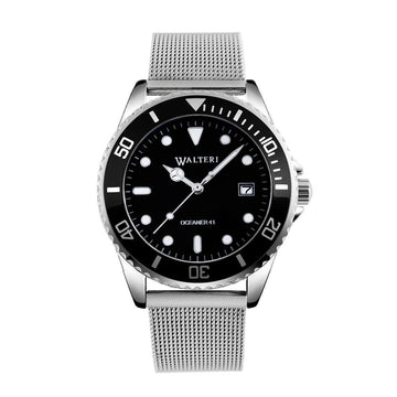 OCEANER 41 -  STEEL / SILVER MESH WATCH - WALTERI