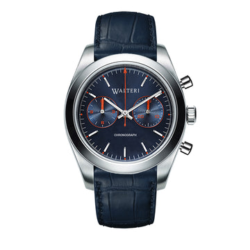 TRAVELLER 42 CHRONOGRAPH -  LEATHER / BLUE CROCO WATCH - WALTERI