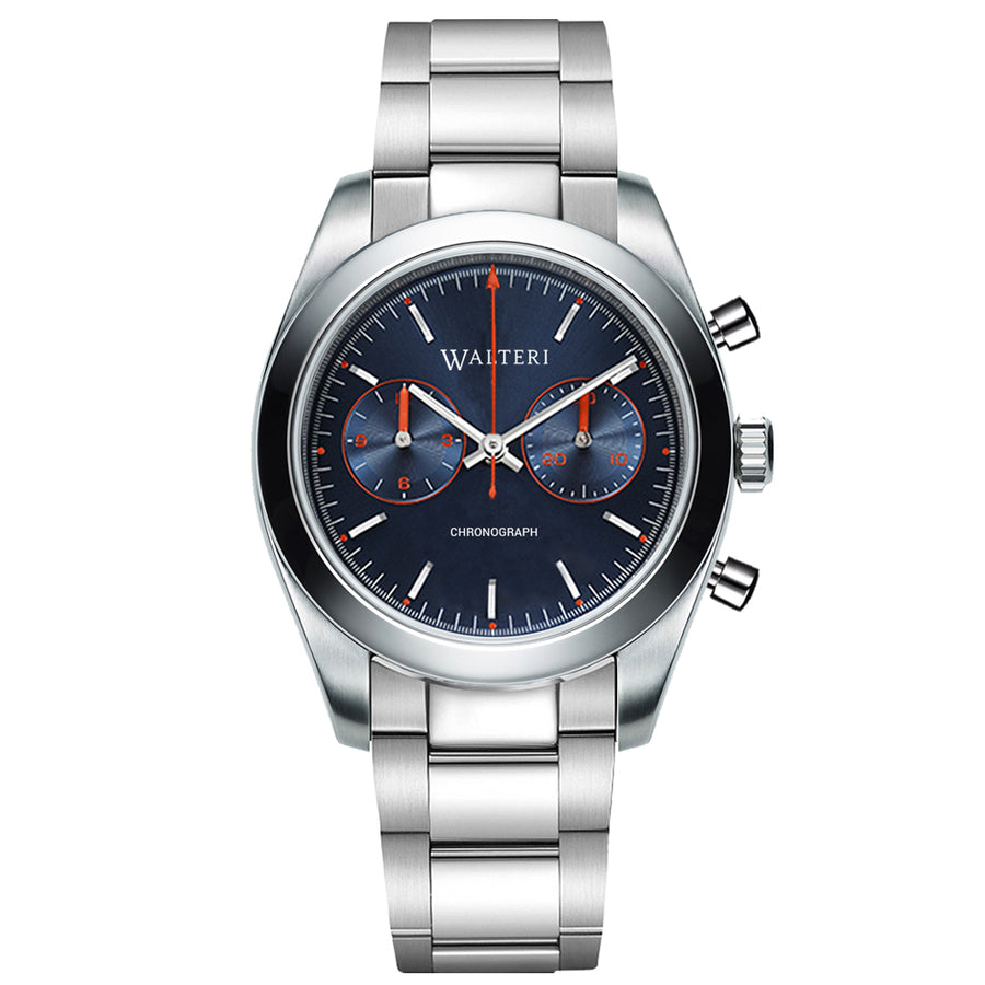 TRAVELLER 42 CHRONOGRAPH -  STEEL / SILVER WATCH - WALTERI