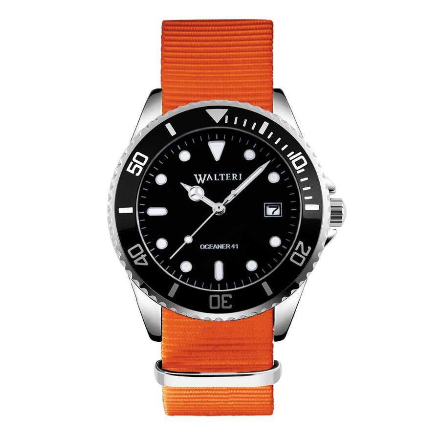 NATO STRAP ORANGE WATCH - WALTERI