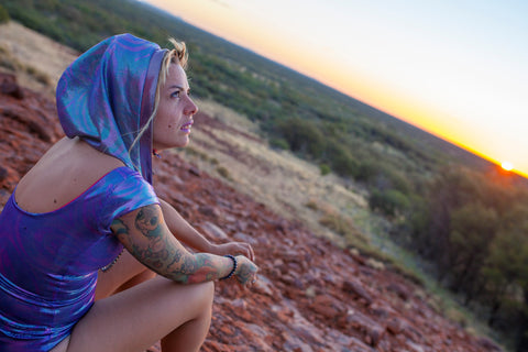 Mad Dame in Bree Bodysuit at Uluru