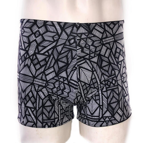 Multiple Sizes -  Jagger Booty Shorts - Black and White Parquetry