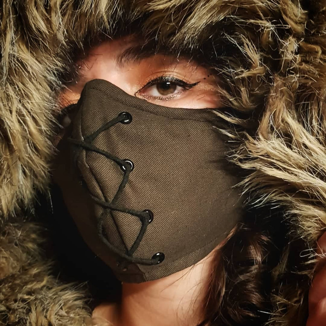 HellyDee Front Laces Face Mask