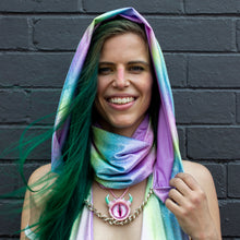 One Size - Mad Dame Hood - Sherbet Rainbow Holographic