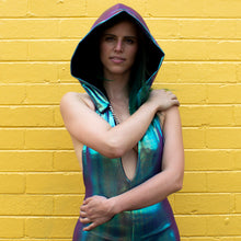 One Size -  Mad Dame Hood -  Purple Mermaid Holographic