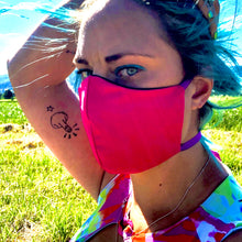 LIMITED STOCK - Hawthorn Seamed Hot Pink  *Limited Edition* Face Mask. Adults and Child Sizes