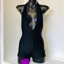 XS - Sara Bodysuit - Pink Holographic and Black Lining