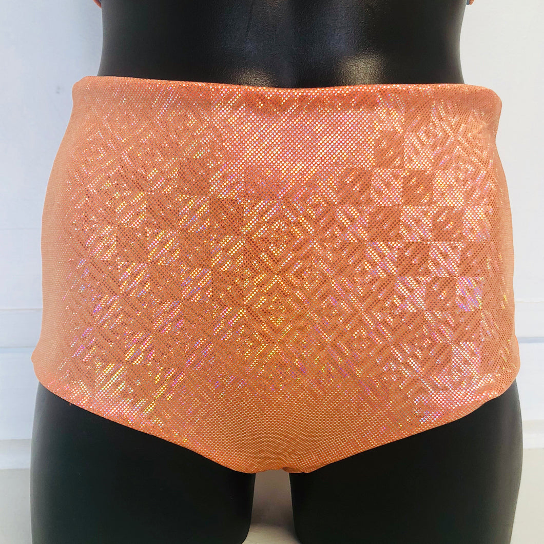 SALE - XS -  Jaimee Reversible Shorts in Mandarin and Black