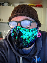 Brunswick Seamed Green Mermaid to Electric Blue Sequin  *Limited Edition* Face Mask. Adults and Child Sizes. Made to order
