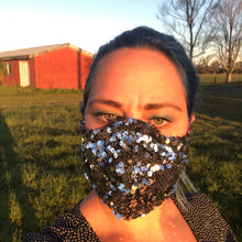 Brunswick Seamed Silver Disco Ball Sequin  *Limited Edition* Face Mask. Adults Sizes. Made to order