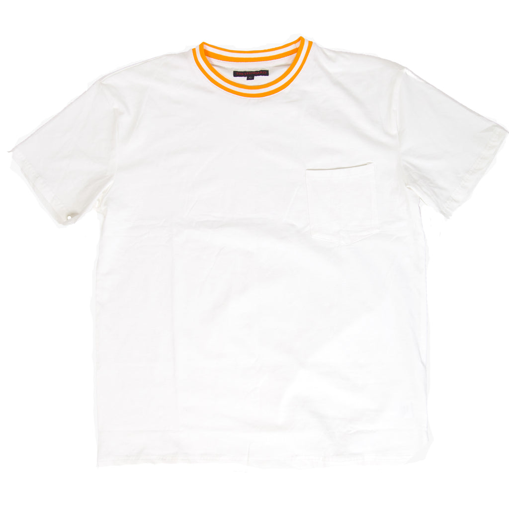 Ribbed Pocket Tee - Off White