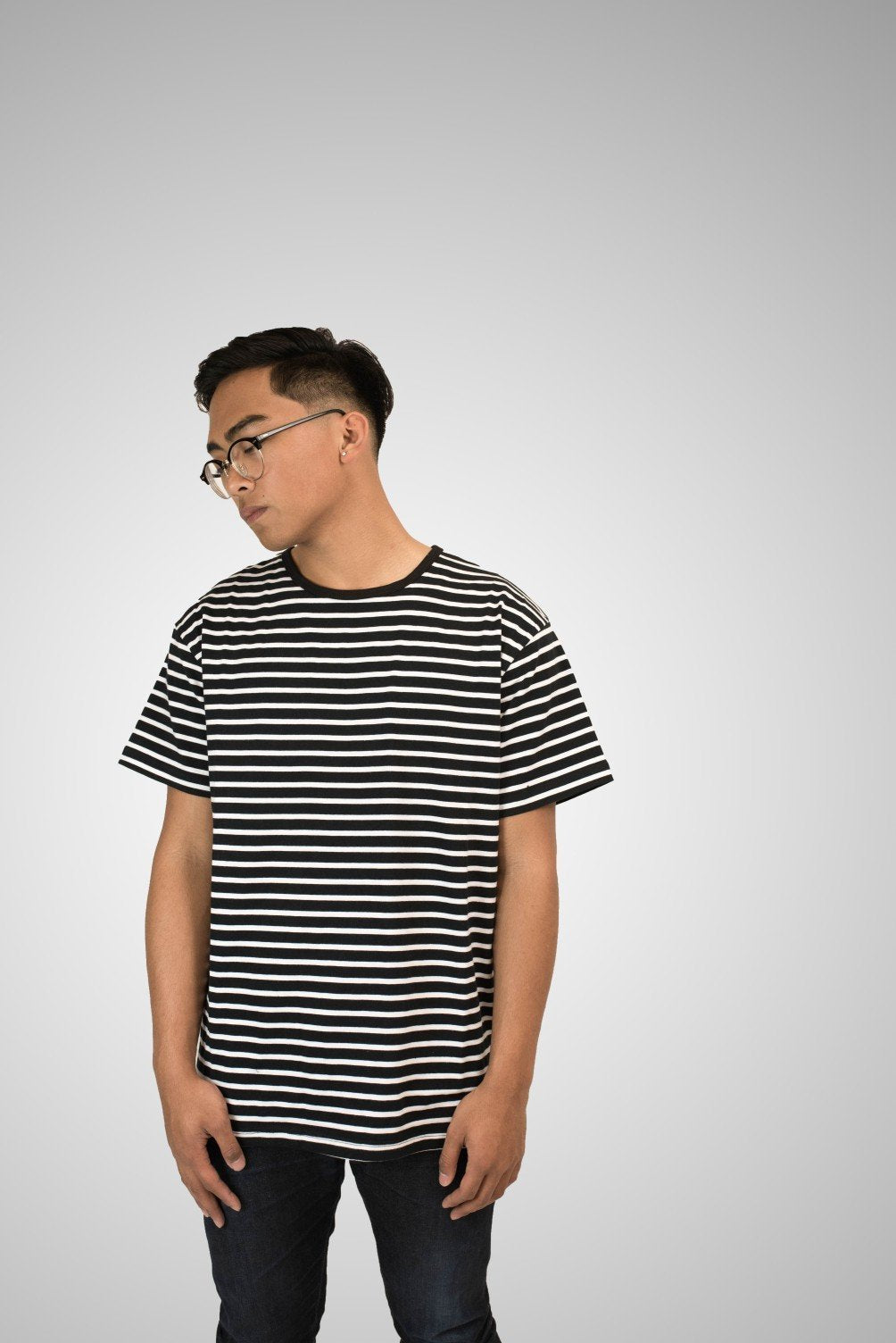 SS Striped Tee - Black