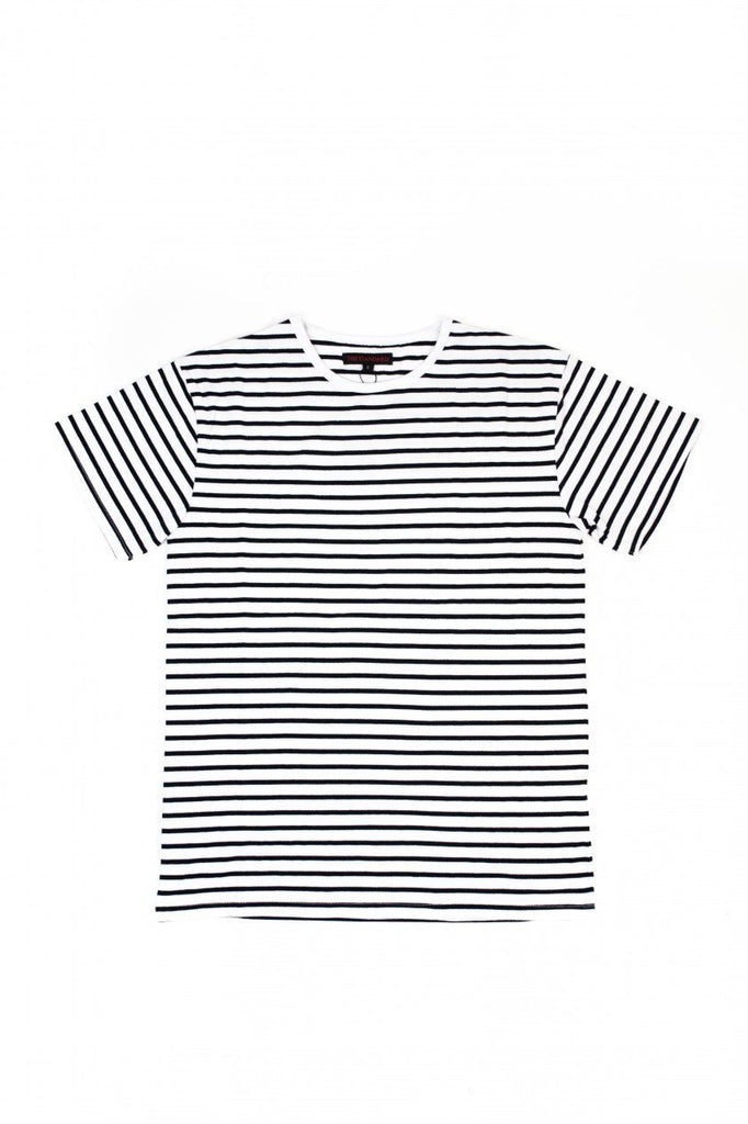 SS Striped Tee - White