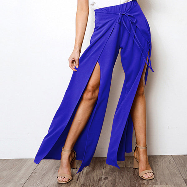 Sexy Flare High Waist Split Strap Pants