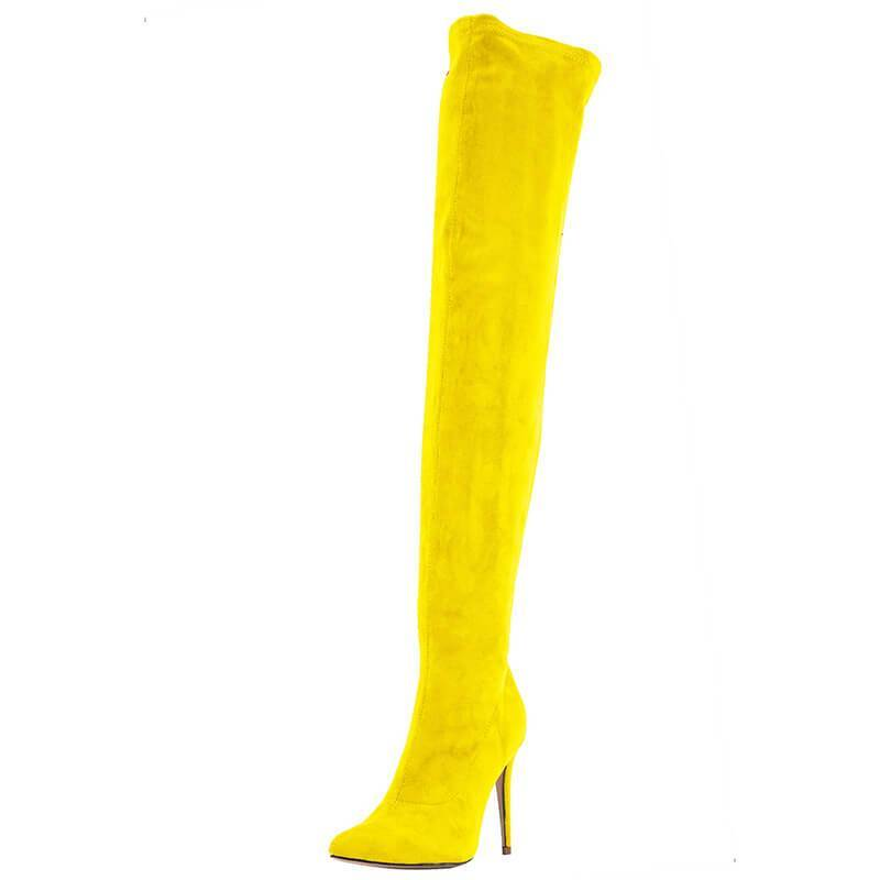 Thigh High Stretch Heel Boot