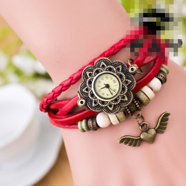 Heart With Wings Multilayer Watch