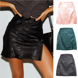 Sexy High Waist Bodycon Split Mini Skirts