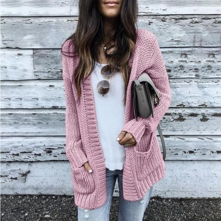 Oversized Cardigan Loose Textured Women Sweater
