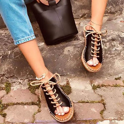 Flat Leatherr Open Toe Walking Sandals