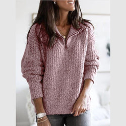 Oversized Half Zip Thick Pullover Knit Sweater