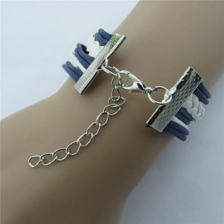 Retro Anchor Rudder Fashion Bracelet