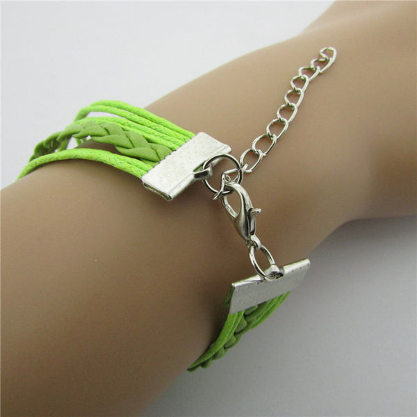 Best Friend Eight Handmade Leather Christmas Bracelet