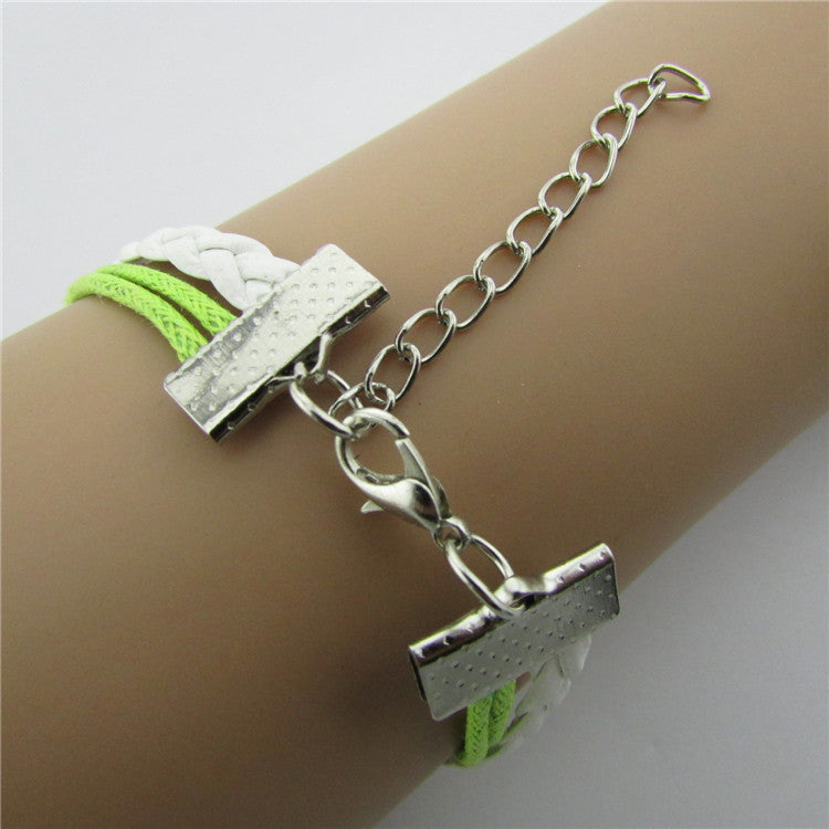 Retro Leaves Bird Strap Multilayer Bracelet
