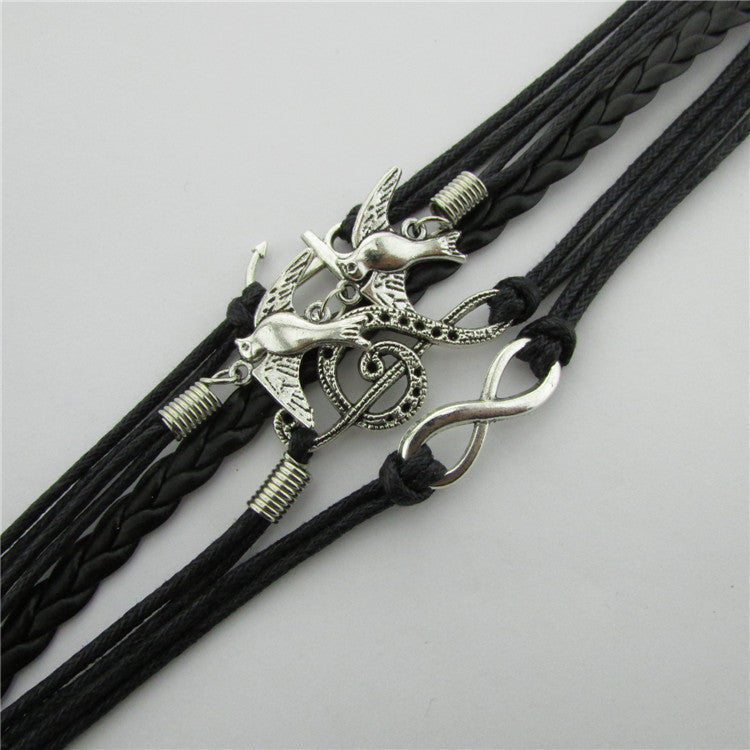 Anchor Dove Eight Wax String Fashion Bracelets