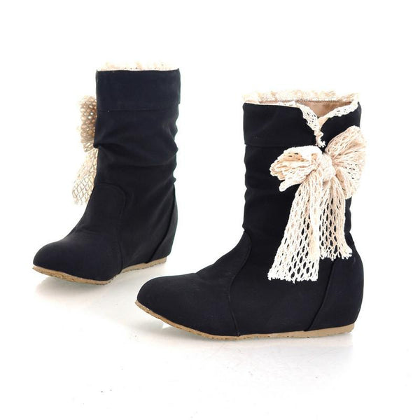 Soft Round Head Inceased Short Boots
