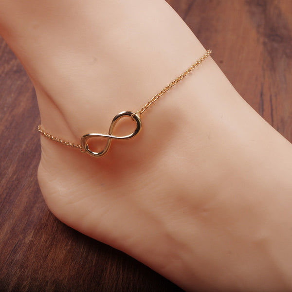 Simple Fashion Luky Number 8 Anklet