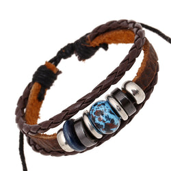 Magnetic Beads Leather Bracelet