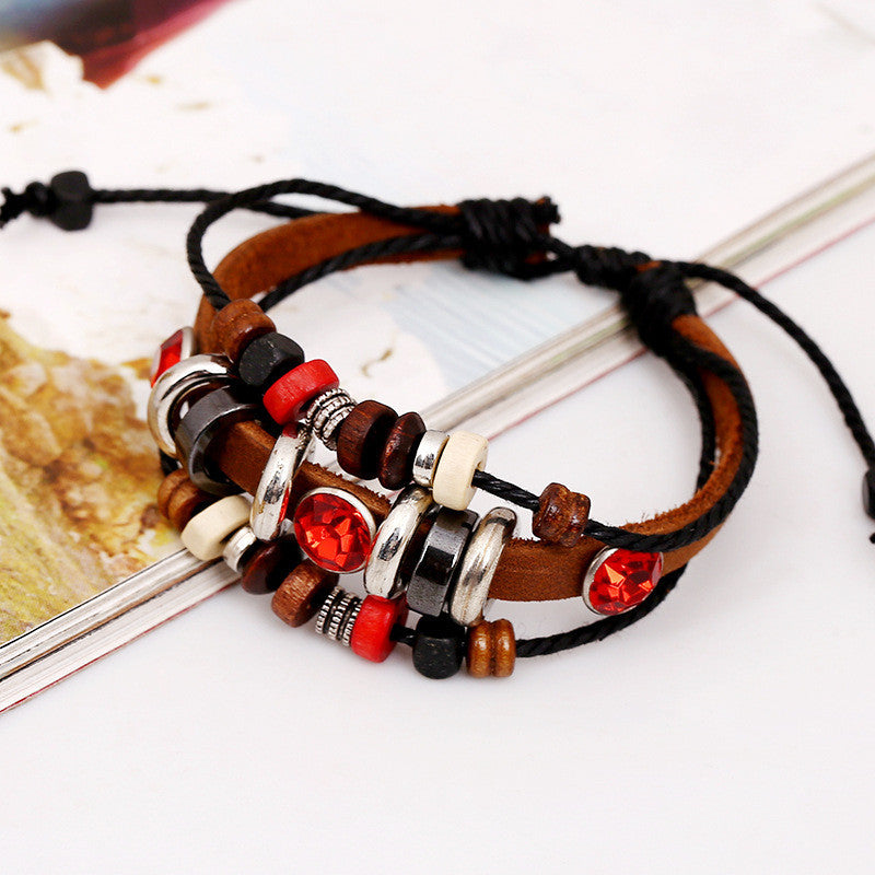 Crystal Beaded Multilayer Bracelet