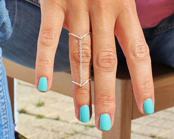 Sexy Multi-Finger Double V Shape Ring