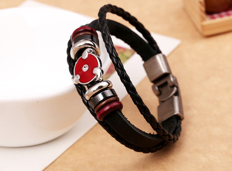 Anime Leather Students Bracelet