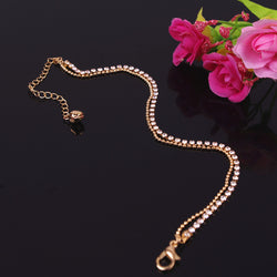 Crystal Double Layers Anklet