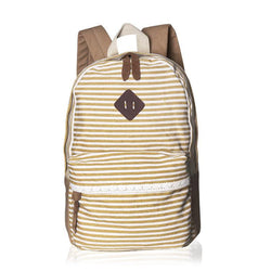 2016 Classical Stripe Lace Canvas Backpack - Meet Yours Fashion - 1