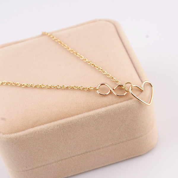 Beautiful Sun Hearts Pendant Necklace