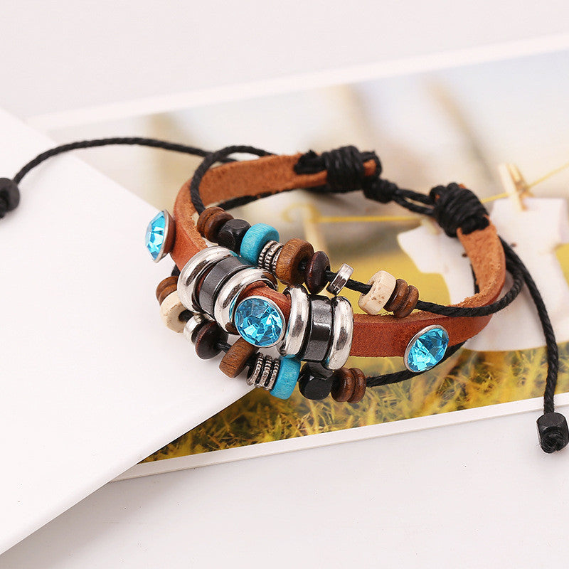 National Style Crystal Multilayer Bracelet