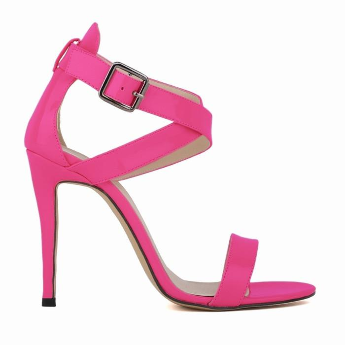 Sexy Peep-Toe High Heels Cross Buckle Sandals