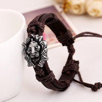 Personality Lion Leather Bracelet