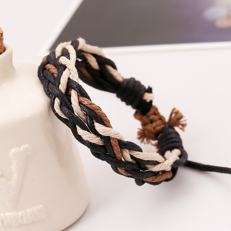 Wax Rope Handmade Braided Bracelet
